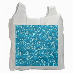 Glossy Abstract Ocean Recycle Bag (Two Side)