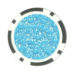 Glossy Abstract Ocean Poker Chip Card Guard (10 pack)