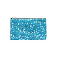 Glossy Abstract Ocean Cosmetic Bag (Small)