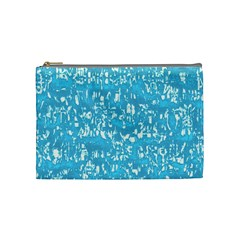 Glossy Abstract Ocean Cosmetic Bag (Medium)