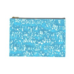 Glossy Abstract Ocean Cosmetic Bag (Large)