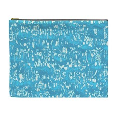 Glossy Abstract Ocean Cosmetic Bag (XL)