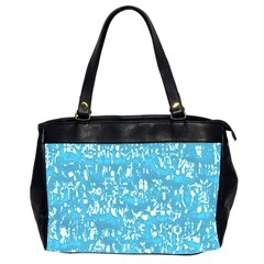 Glossy Abstract Ocean Office Handbags (2 Sides)