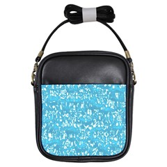 Glossy Abstract Ocean Girls Sling Bags