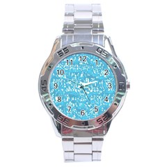 Glossy Abstract Ocean Stainless Steel Analogue Watch