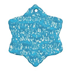 Glossy Abstract Ocean Snowflake Ornament (Two Sides)