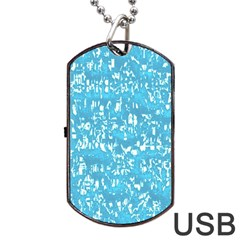 Glossy Abstract Ocean Dog Tag USB Flash (One Side)