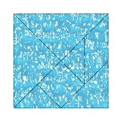 Glossy Abstract Ocean Acrylic Tangram Puzzle (6  x 6 )