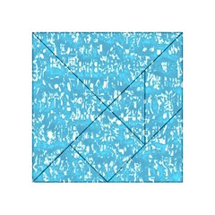 Glossy Abstract Ocean Acrylic Tangram Puzzle (4  x 4 )