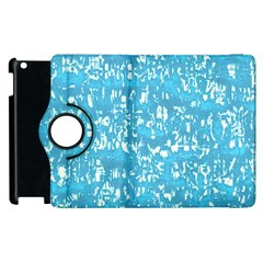 Glossy Abstract Ocean Apple iPad 3/4 Flip 360 Case
