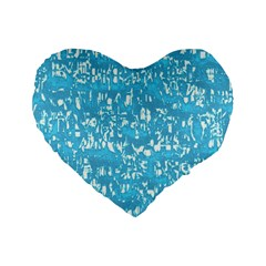 Glossy Abstract Ocean Standard 16  Premium Heart Shape Cushions
