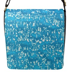 Glossy Abstract Ocean Flap Messenger Bag (S)