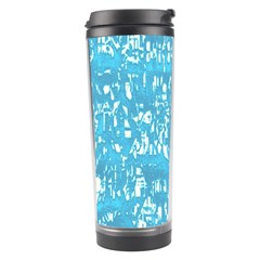Glossy Abstract Ocean Travel Tumbler