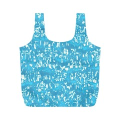 Glossy Abstract Ocean Full Print Recycle Bags (M)