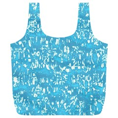 Glossy Abstract Ocean Full Print Recycle Bags (L)