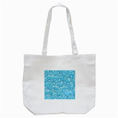 Glossy Abstract Ocean Tote Bag (White)