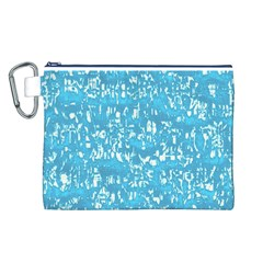 Glossy Abstract Ocean Canvas Cosmetic Bag (L)