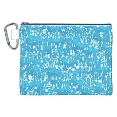 Glossy Abstract Ocean Canvas Cosmetic Bag (XXL)
