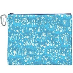 Glossy Abstract Ocean Canvas Cosmetic Bag (XXXL)