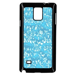 Glossy Abstract Ocean Samsung Galaxy Note 4 Case (Black)