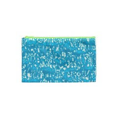Glossy Abstract Ocean Cosmetic Bag (XS)