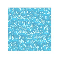 Glossy Abstract Ocean Small Satin Scarf (Square)