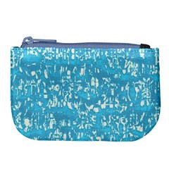 Glossy Abstract Ocean Large Coin Purse
