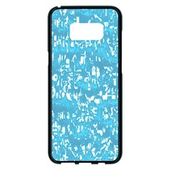Glossy Abstract Ocean Samsung Galaxy S8 Plus Black Seamless Case