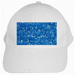 Glossy Abstract Teal White Cap
