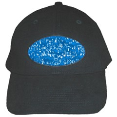 Glossy Abstract Teal Black Cap
