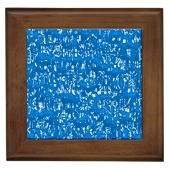 Glossy Abstract Teal Framed Tiles