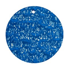 Glossy Abstract Teal Ornament (Round)