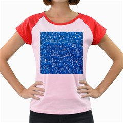 Glossy Abstract Teal Women s Cap Sleeve T-Shirt