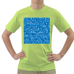 Glossy Abstract Teal Green T-Shirt