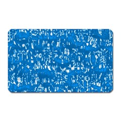 Glossy Abstract Teal Magnet (Rectangular)