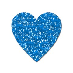 Glossy Abstract Teal Heart Magnet