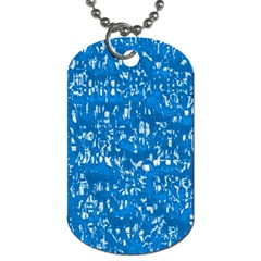 Glossy Abstract Teal Dog Tag (One Side)