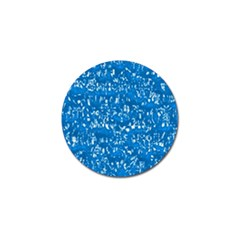 Glossy Abstract Teal Golf Ball Marker