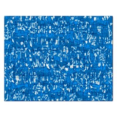 Glossy Abstract Teal Rectangular Jigsaw Puzzl