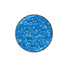 Glossy Abstract Teal Hat Clip Ball Marker (4 pack)
