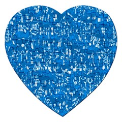 Glossy Abstract Teal Jigsaw Puzzle (Heart)