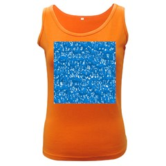 Glossy Abstract Teal Women s Dark Tank Top