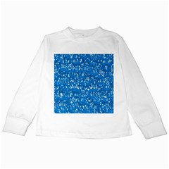 Glossy Abstract Teal Kids Long Sleeve T-Shirts
