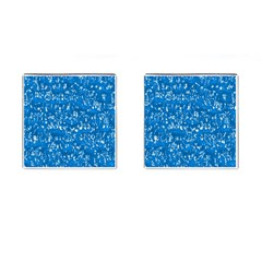 Glossy Abstract Teal Cufflinks (Square)