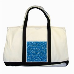 Glossy Abstract Teal Two Tone Tote Bag