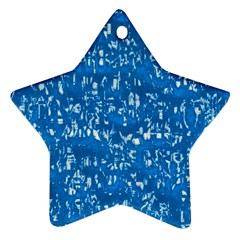 Glossy Abstract Teal Star Ornament (Two Sides)