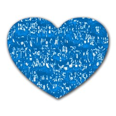 Glossy Abstract Teal Heart Mousepads