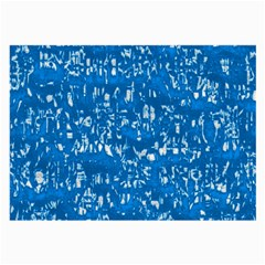 Glossy Abstract Teal Large Glasses Cloth (2-Side)