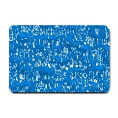 Glossy Abstract Teal Small Doormat