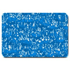 Glossy Abstract Teal Large Doormat